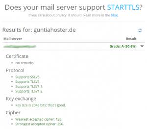 Ergebnis StartTLS-Check